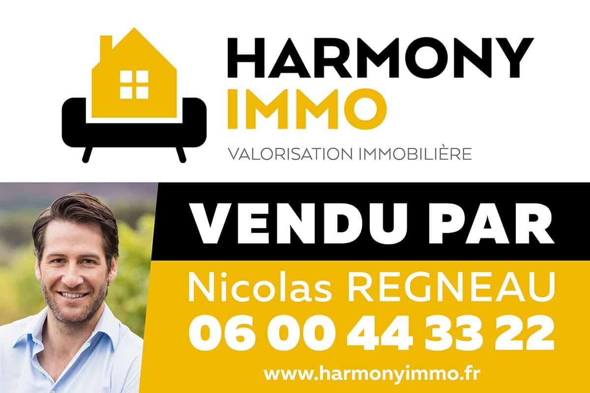 Panneau de vente immobilière