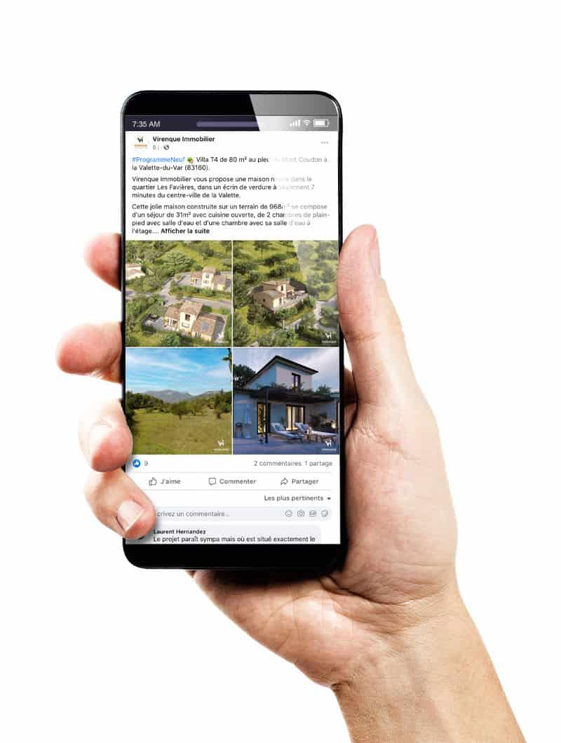 Social media immobilier